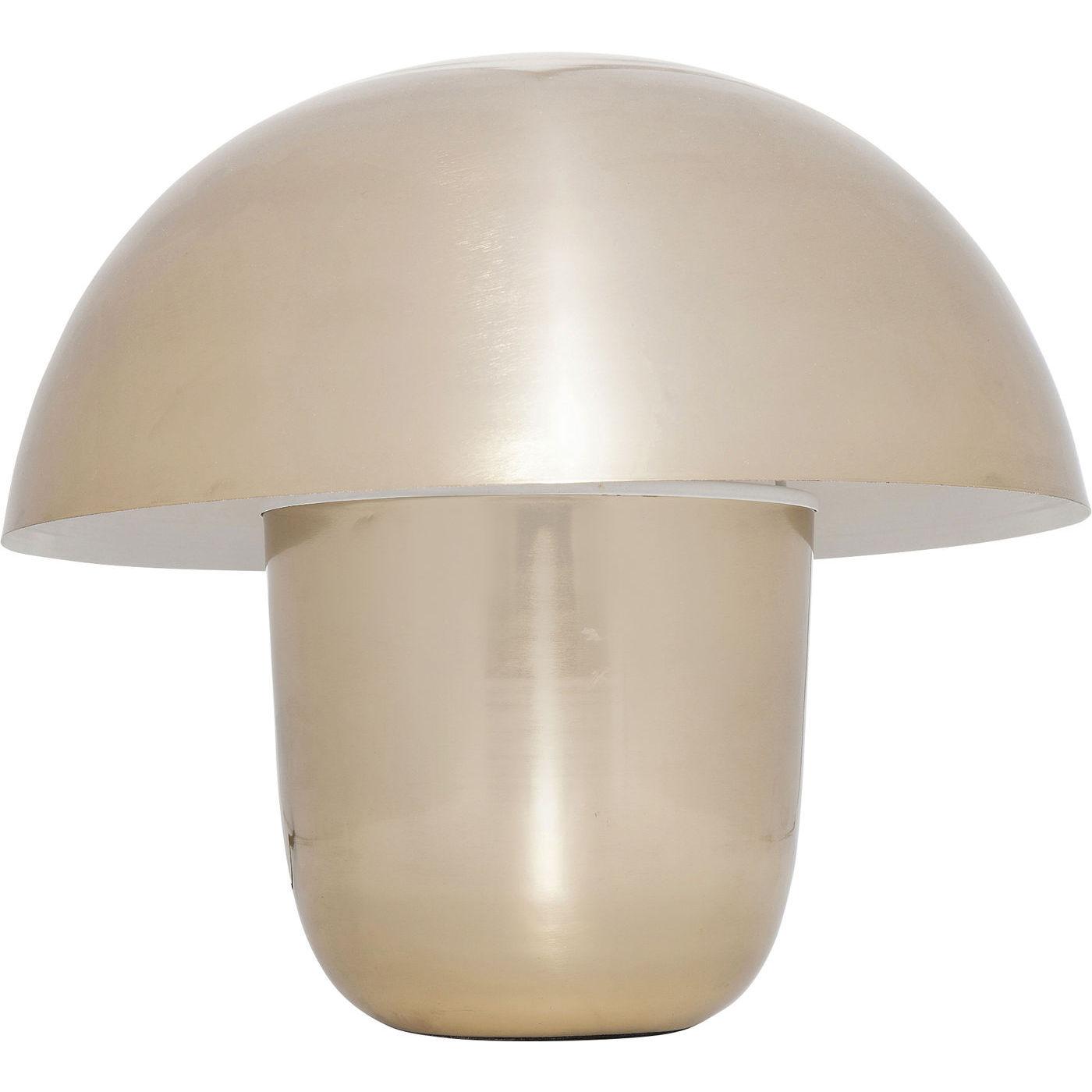 Kare design mushroom gold small bordlampe - guld stål fra kare design på boboonline.dk