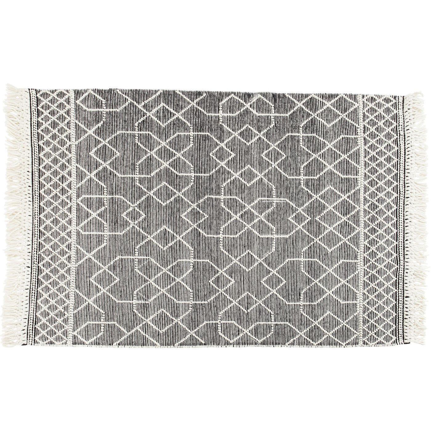 kare design Kare design souk gulvtæppe - grå/hvid uld/bomuld/nylon, håndlavet (240x170) på boboonline.dk