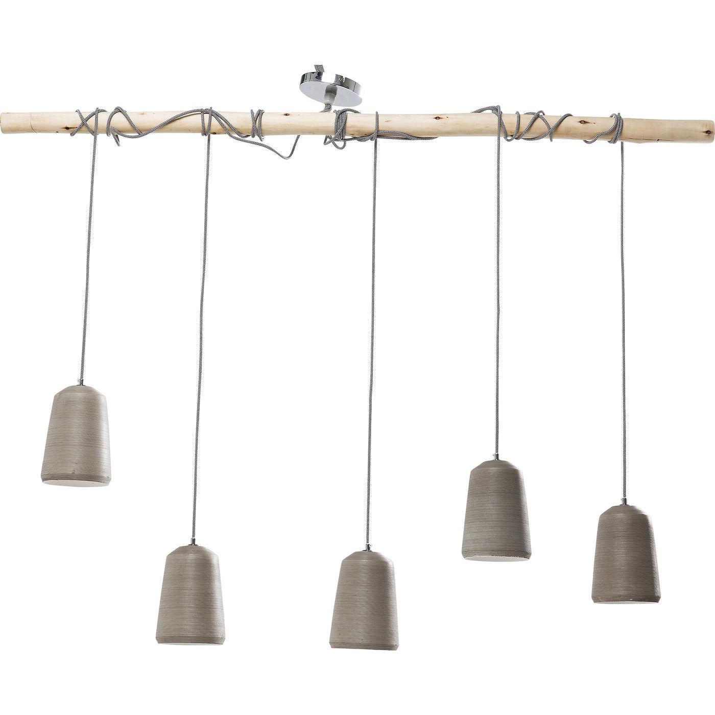 kare design – Kare design dining concrete cinque loftlampe - grå beton/natur eucalyptus fra boboonline.dk