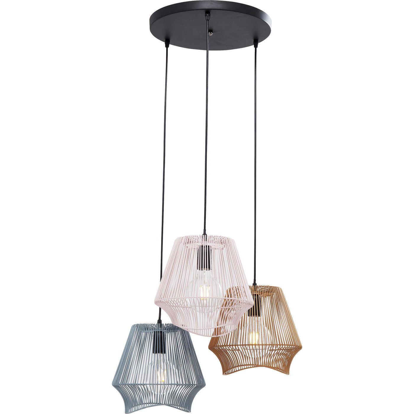 kare design Kare design ischia spiral tre loftlampe - grå/hvid/guld stål fra boboonline.dk