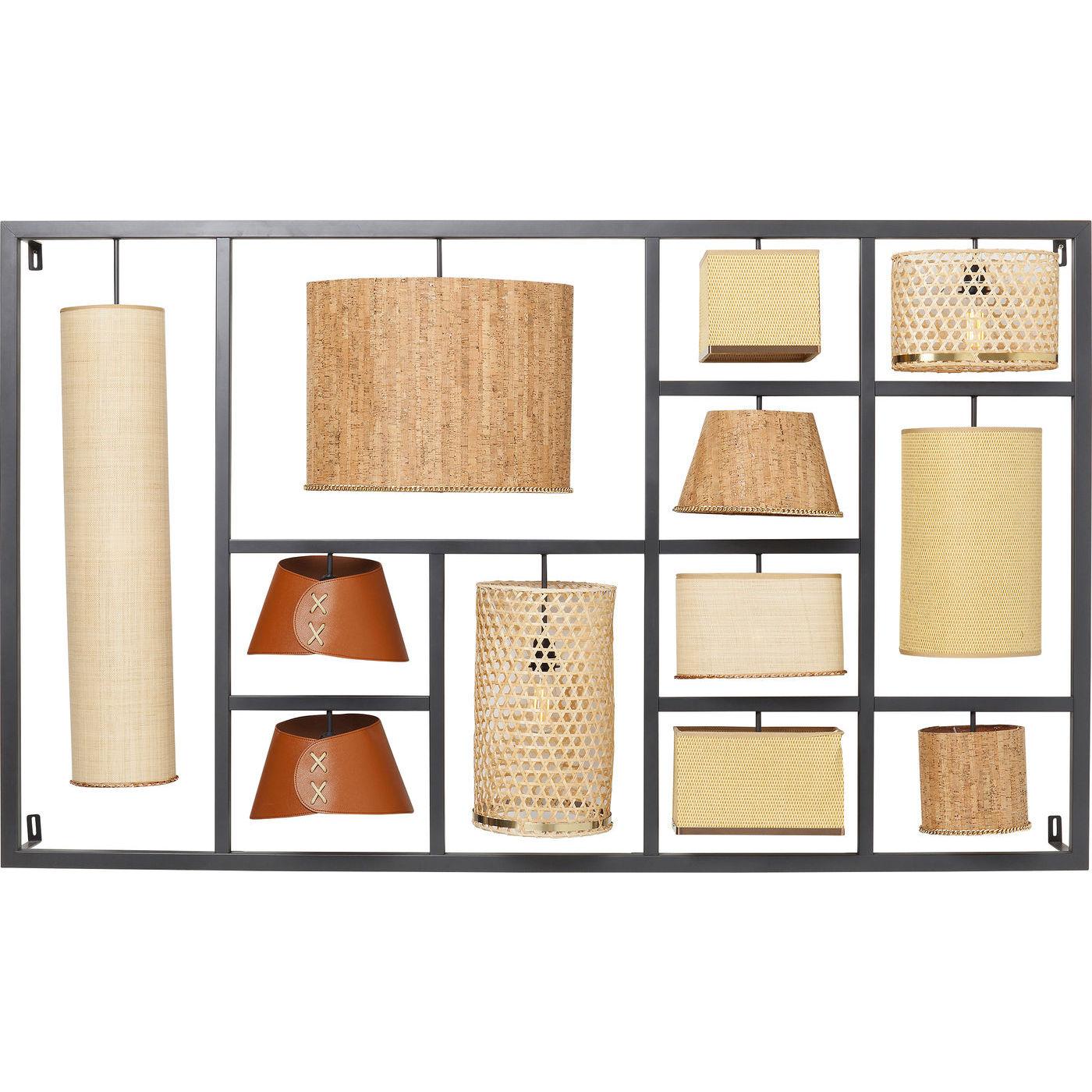 kare design – Kare design parecchi nature væglampe - natur stof/kork/plastik og stål på boboonline.dk