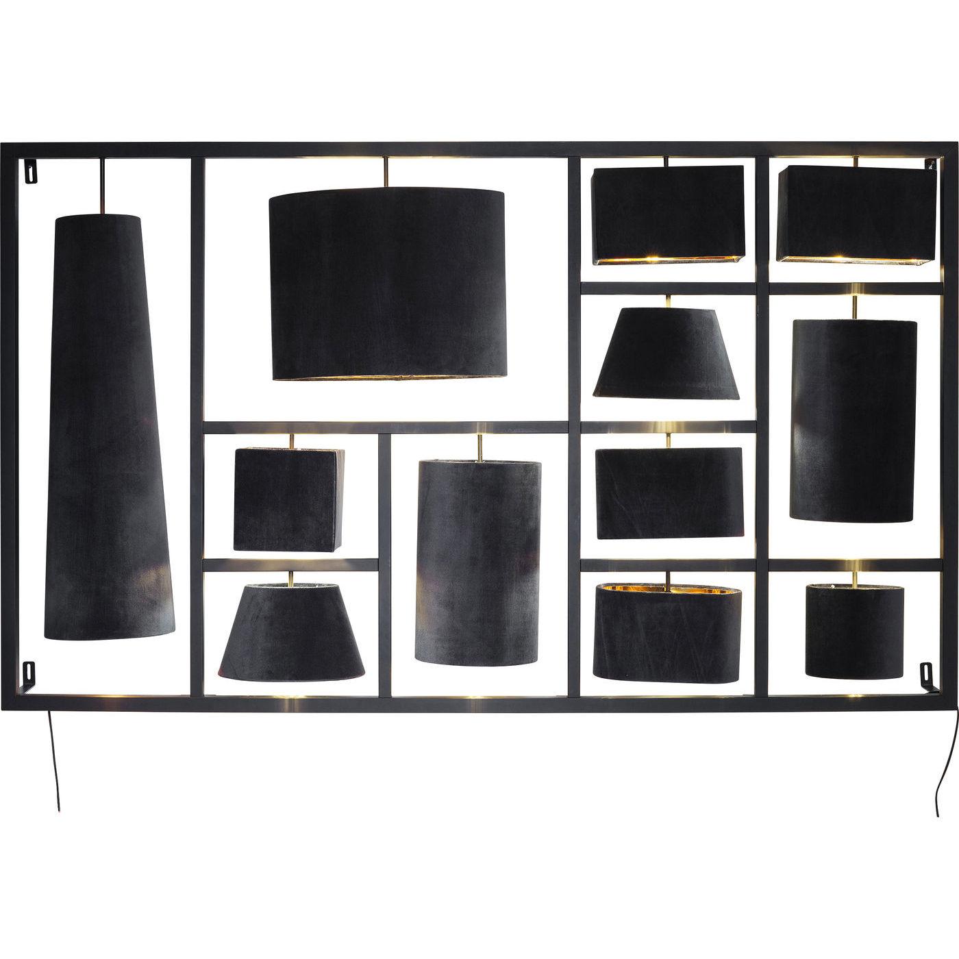 KARE DESIGN Parecchi Night Sky væglampe – grå/sort stof og stål