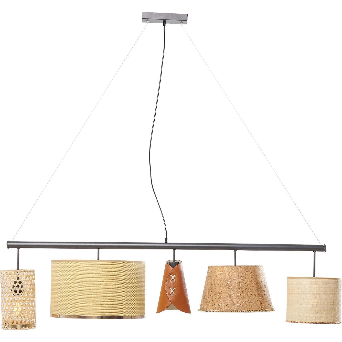 kare design Kare design parecchi nature loftlampe - natur plastik/rattan/stof/kork og stål på boboonline.dk