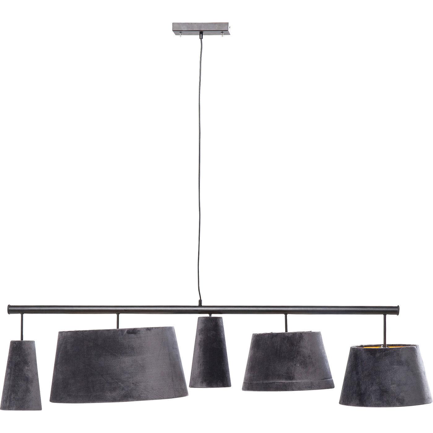 Kare design parecchi night sky loftlampe - gråt stof/guld plastik og stål fra kare design fra boboonline.dk
