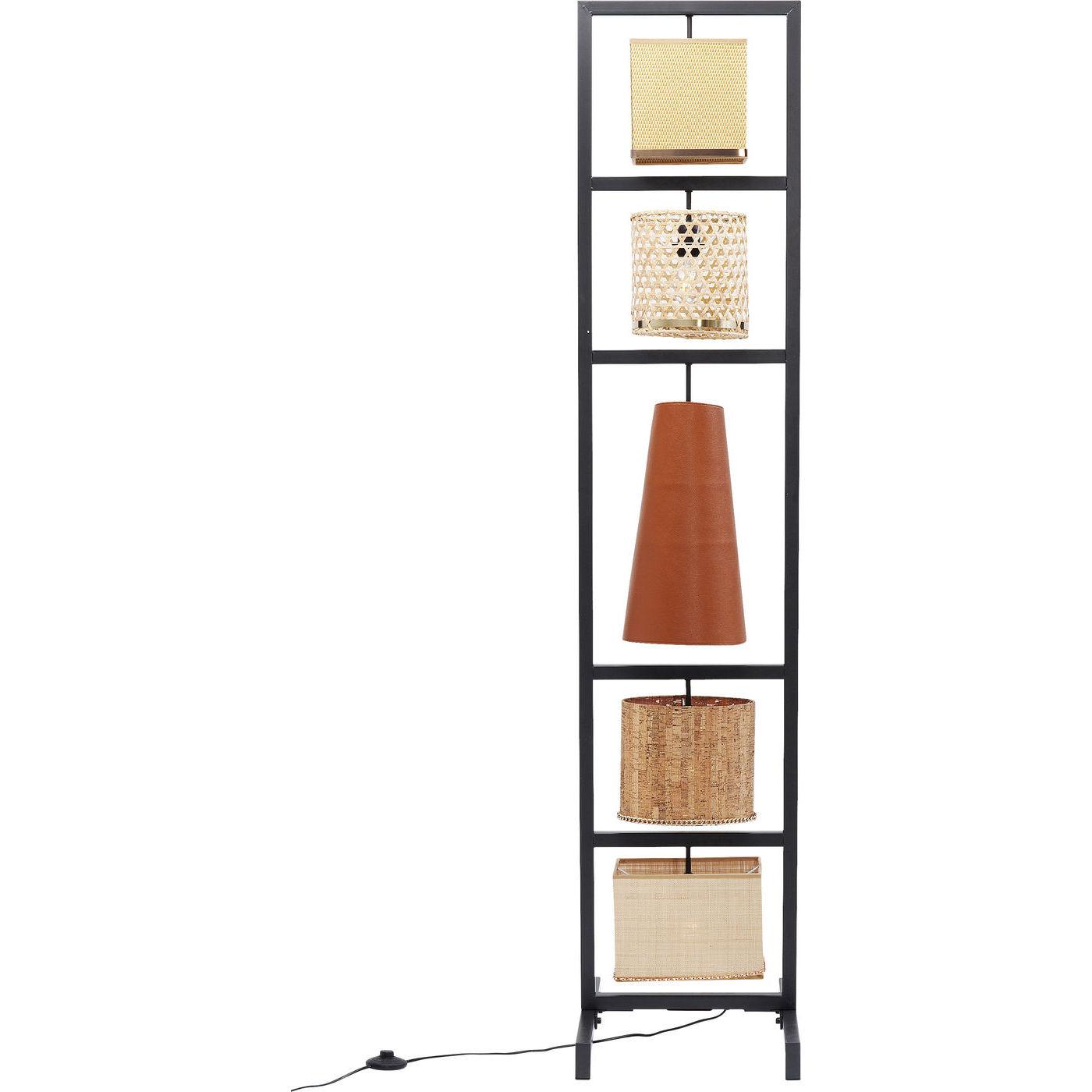 kare design Kare design parecchi nature gulvlampe - natur stof/rattan/polyresin/plastik og stål (176cm) på boboonline.dk