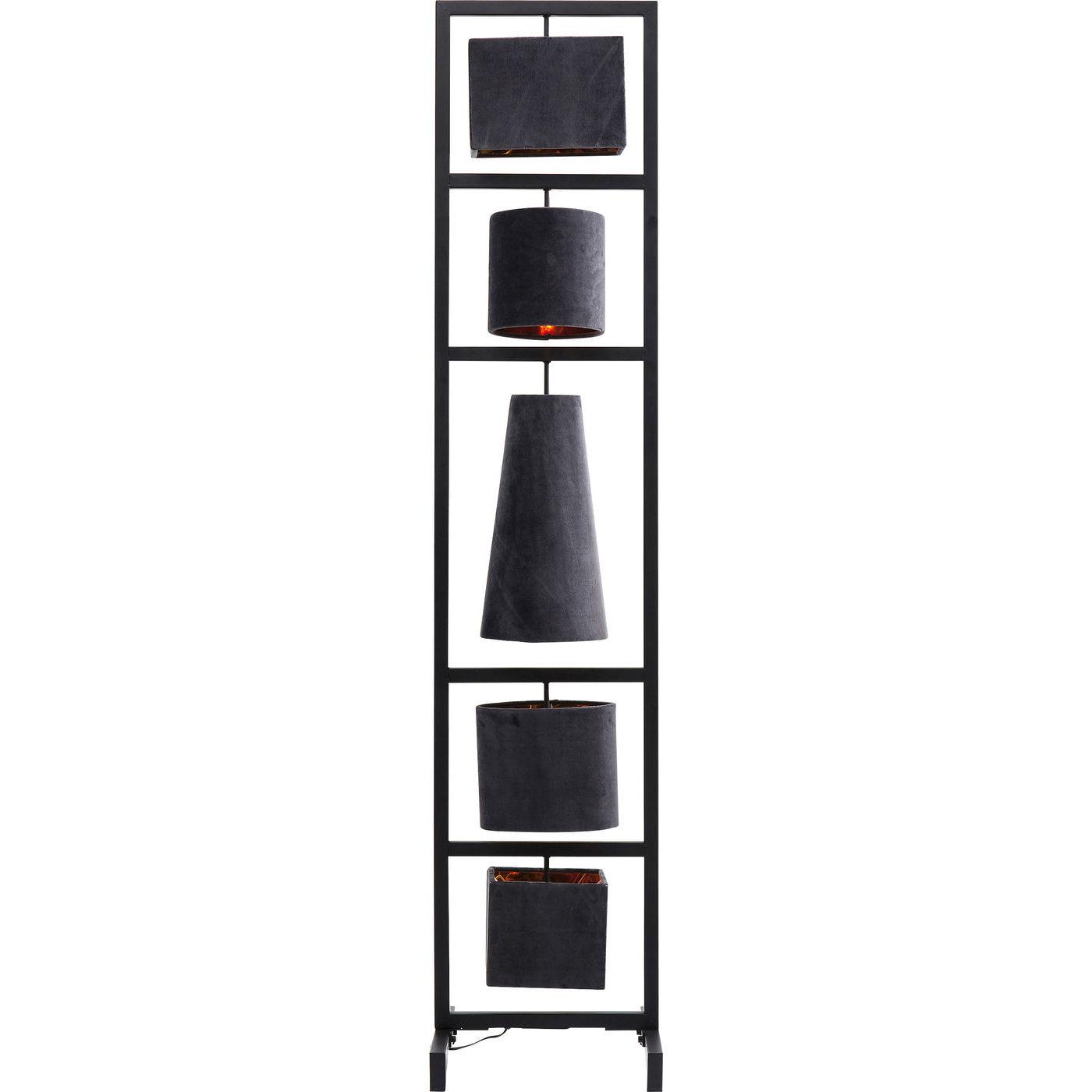Kare design parecchi night sky gulvlampe - grå/sort stof og stål (176cm) fra kare design fra boboonline.dk