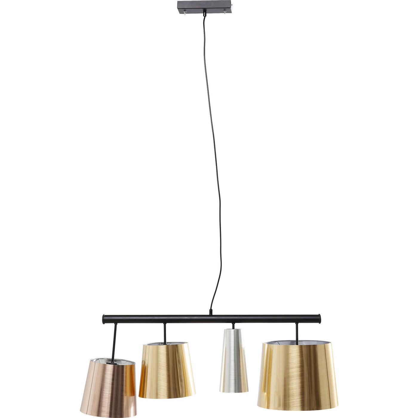 kare design Kare design parecchi glam shine loftlampe - guld/sølv/bronze plastik og sort stål på boboonline.dk