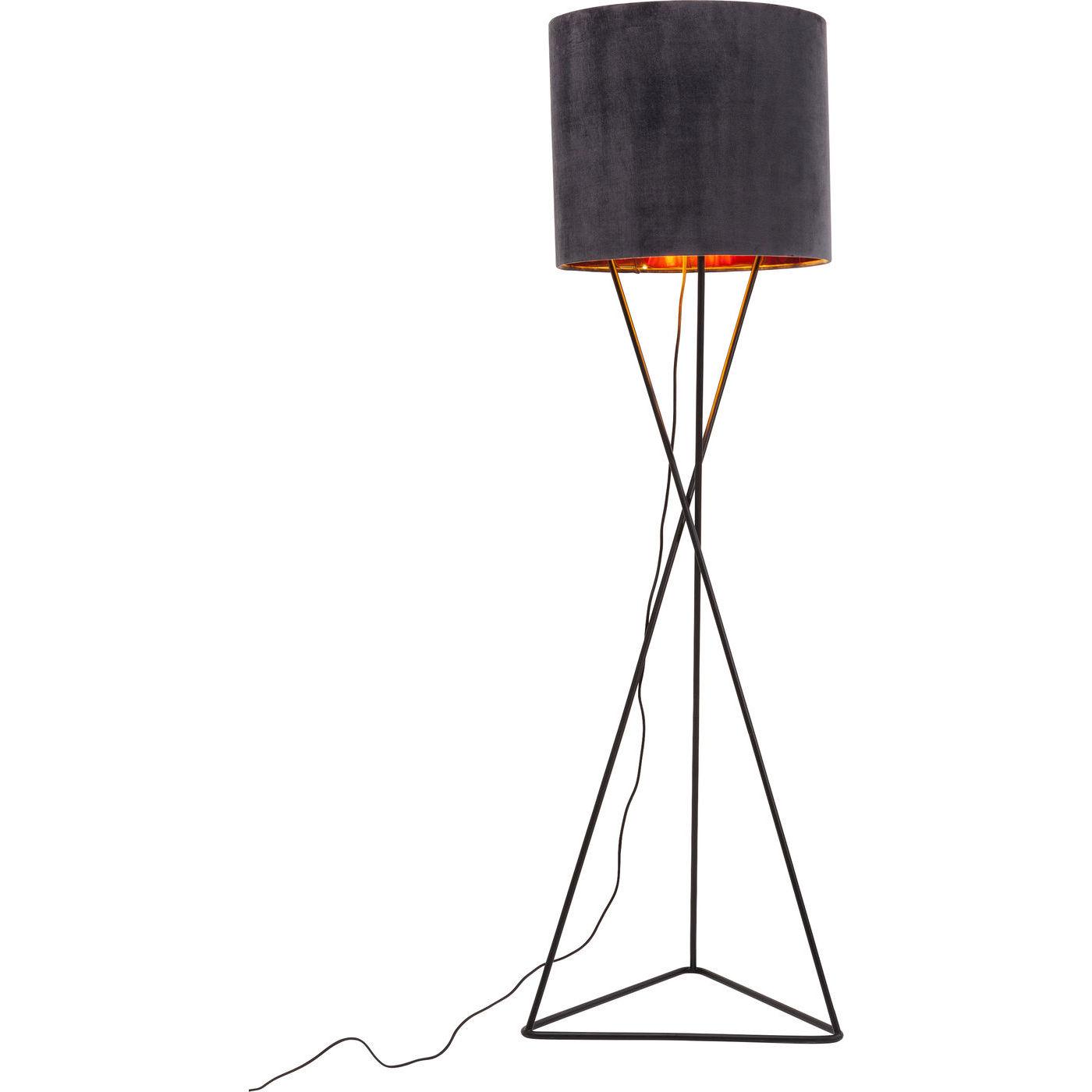 Image of   KARE DESIGN Triangle Night Sky gulvlampe - sort stof/sort stål