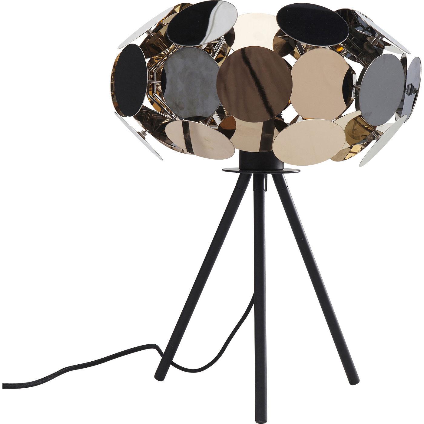 Image of   KARE DESIGN City Nights Circles bordlampe - guld/sølv/bronze/sort stål