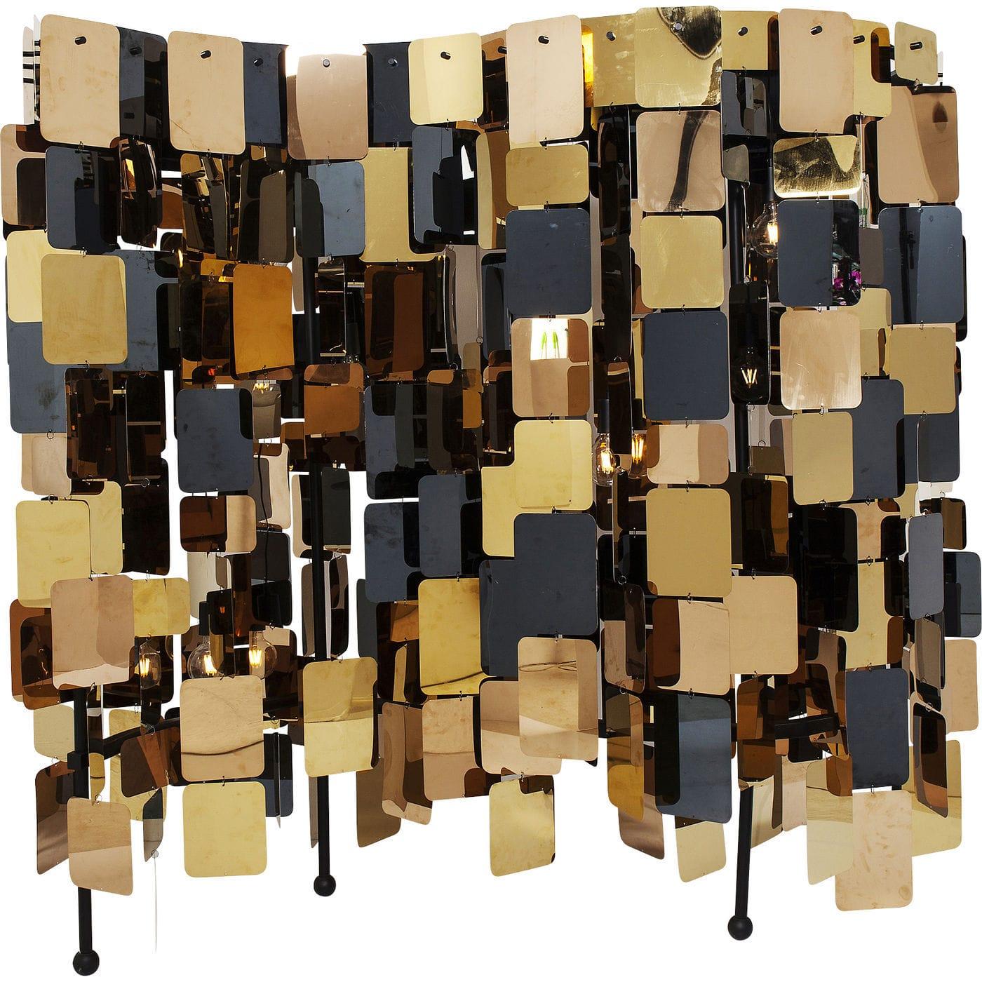 kare design – Kare design city nights squares gulvlampe - guld/kobber/sort stål (180cm) fra boboonline.dk