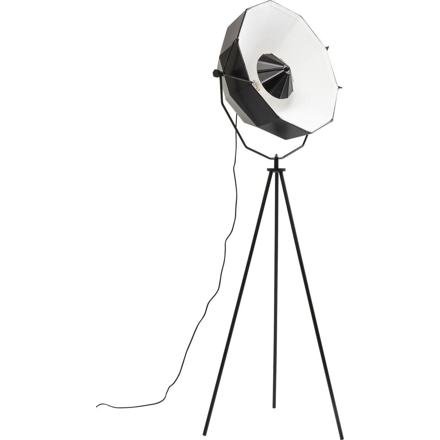 Image of   KARE DESIGN Hollywood Tripod gulvlampe - sort/hvid stål/plastik