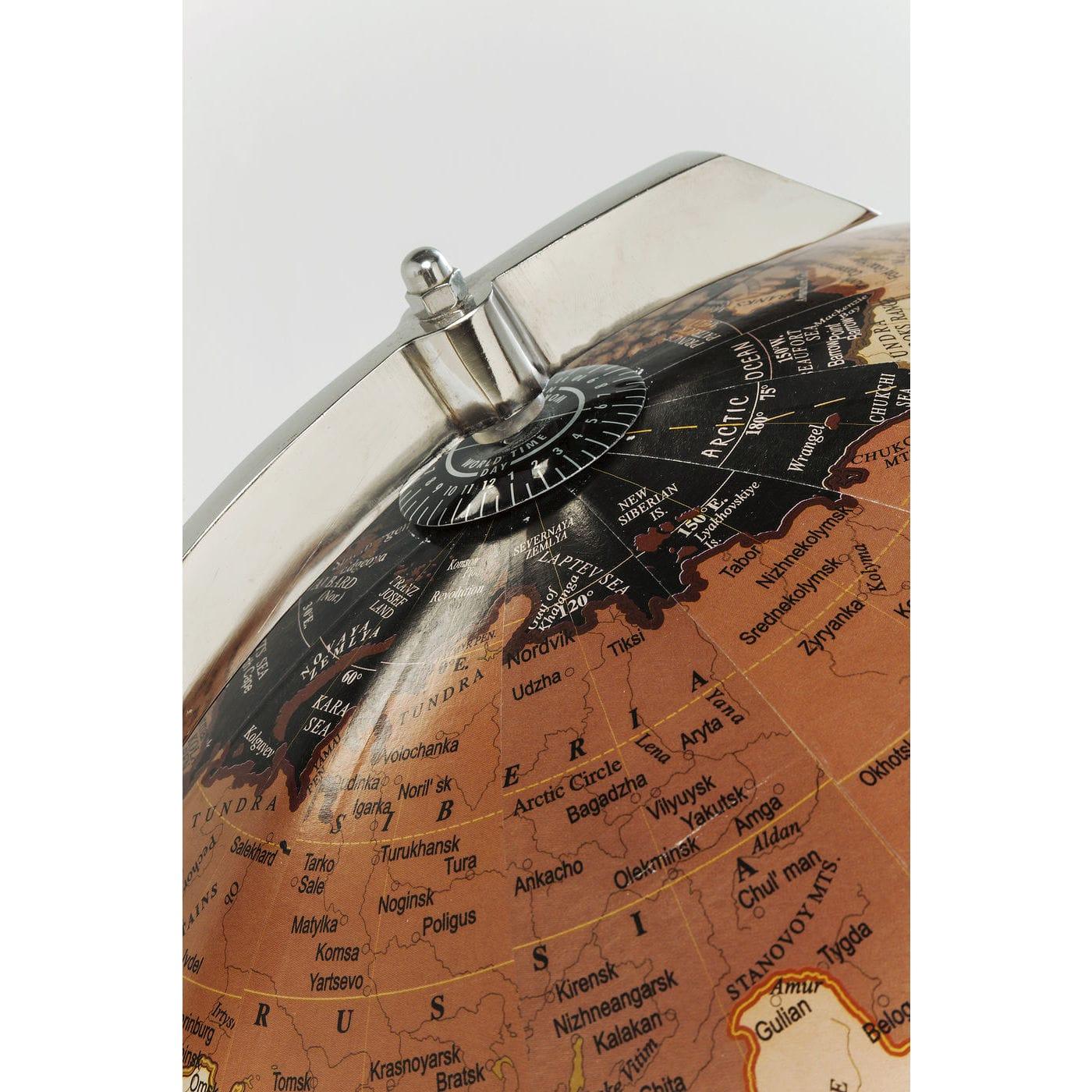 Unik KARE DESIGN Globe Earth Black globus - brunt/sort plastik/mangotræ ME72