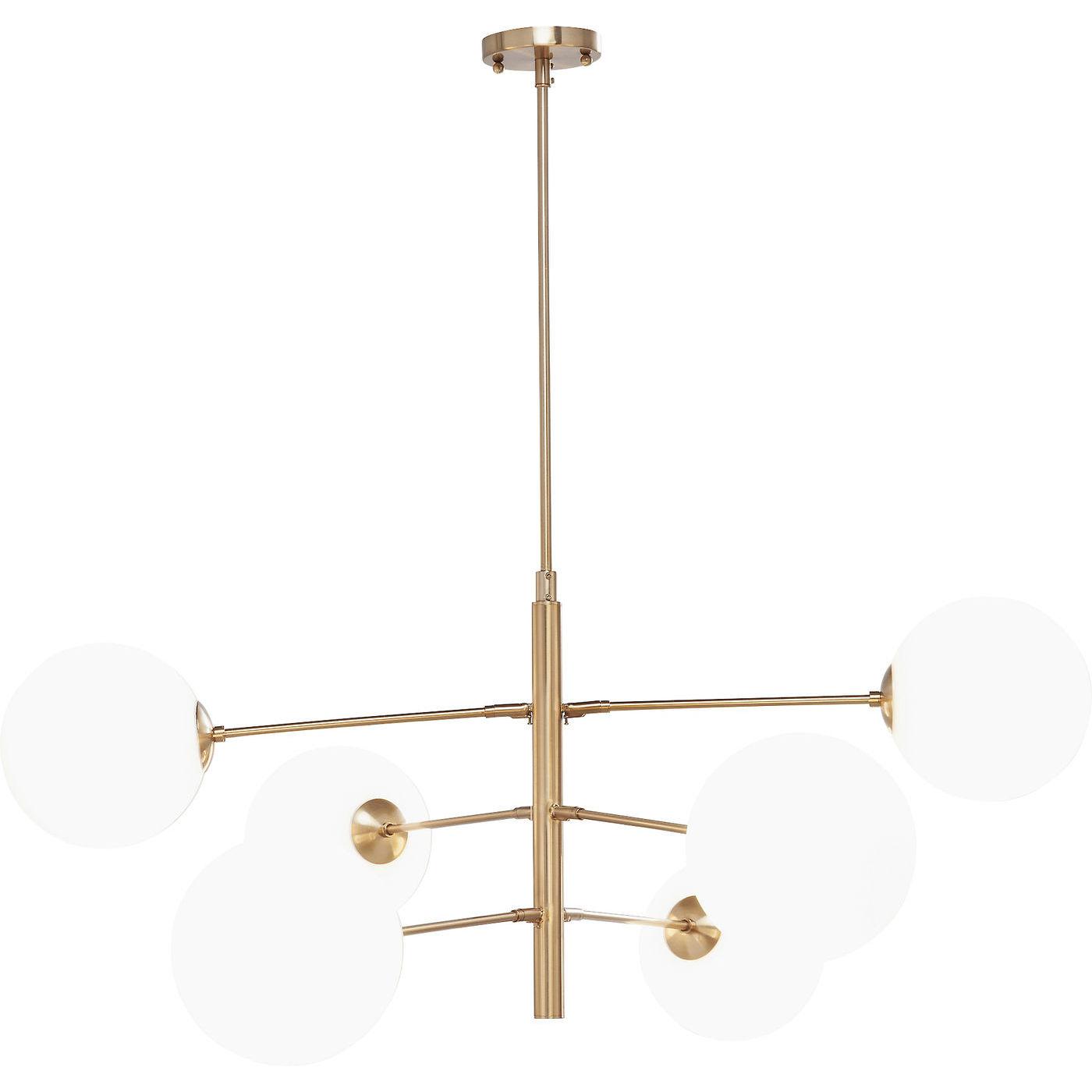 kare design – Kare design planets loftlampe - hvidt glas/messing stål på boboonline.dk