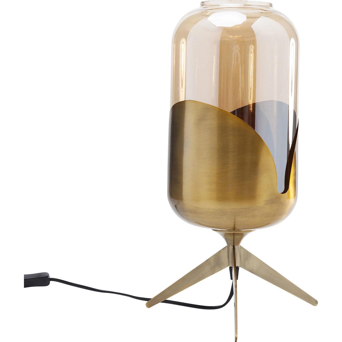 Image of   KARE DESIGN Golden Goblet Pole bordlampe - farvet glas/messingbelagt stål