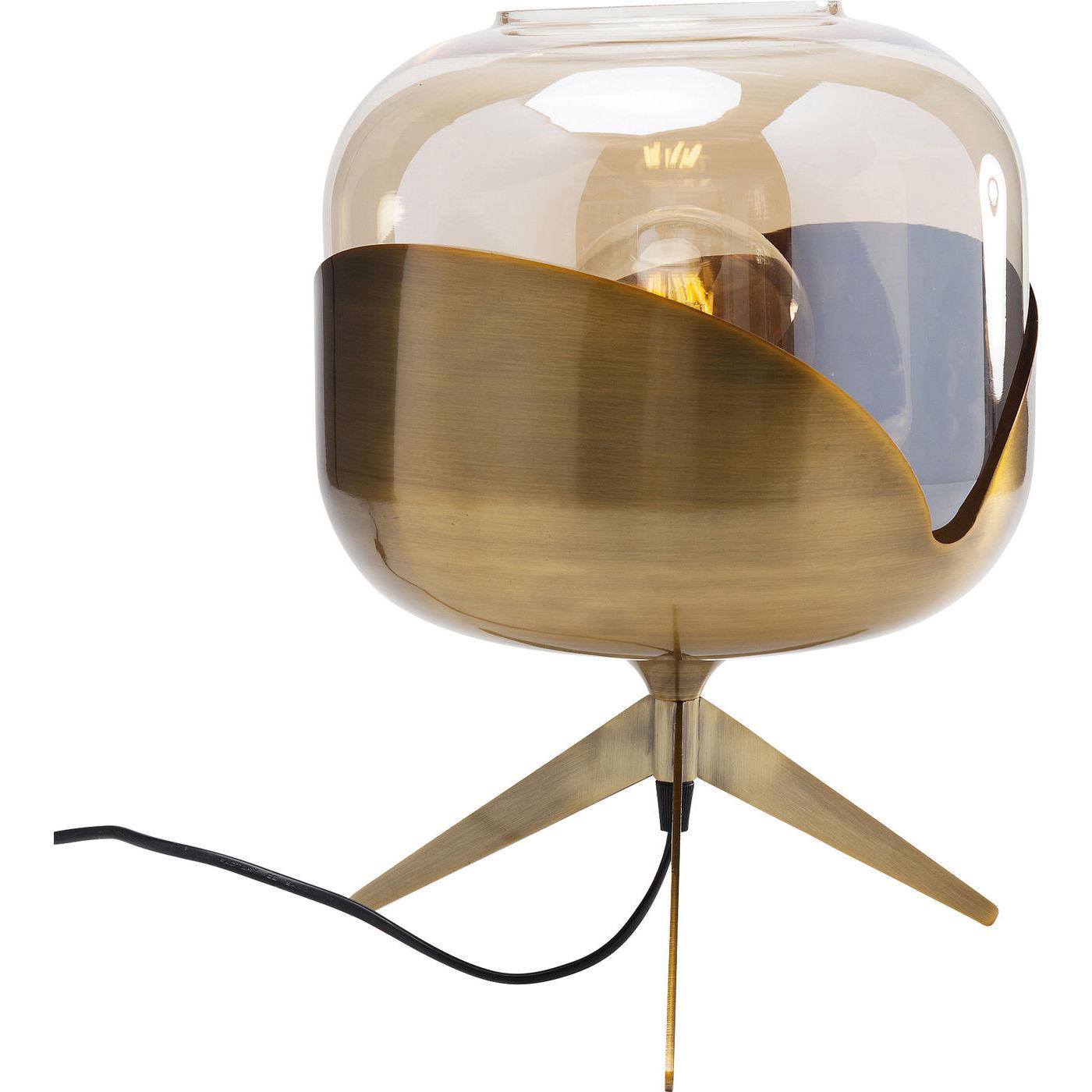kare design – Kare design golden goblet ball bordlampe - farvet glas/messingbelagt stål fra boboonline.dk