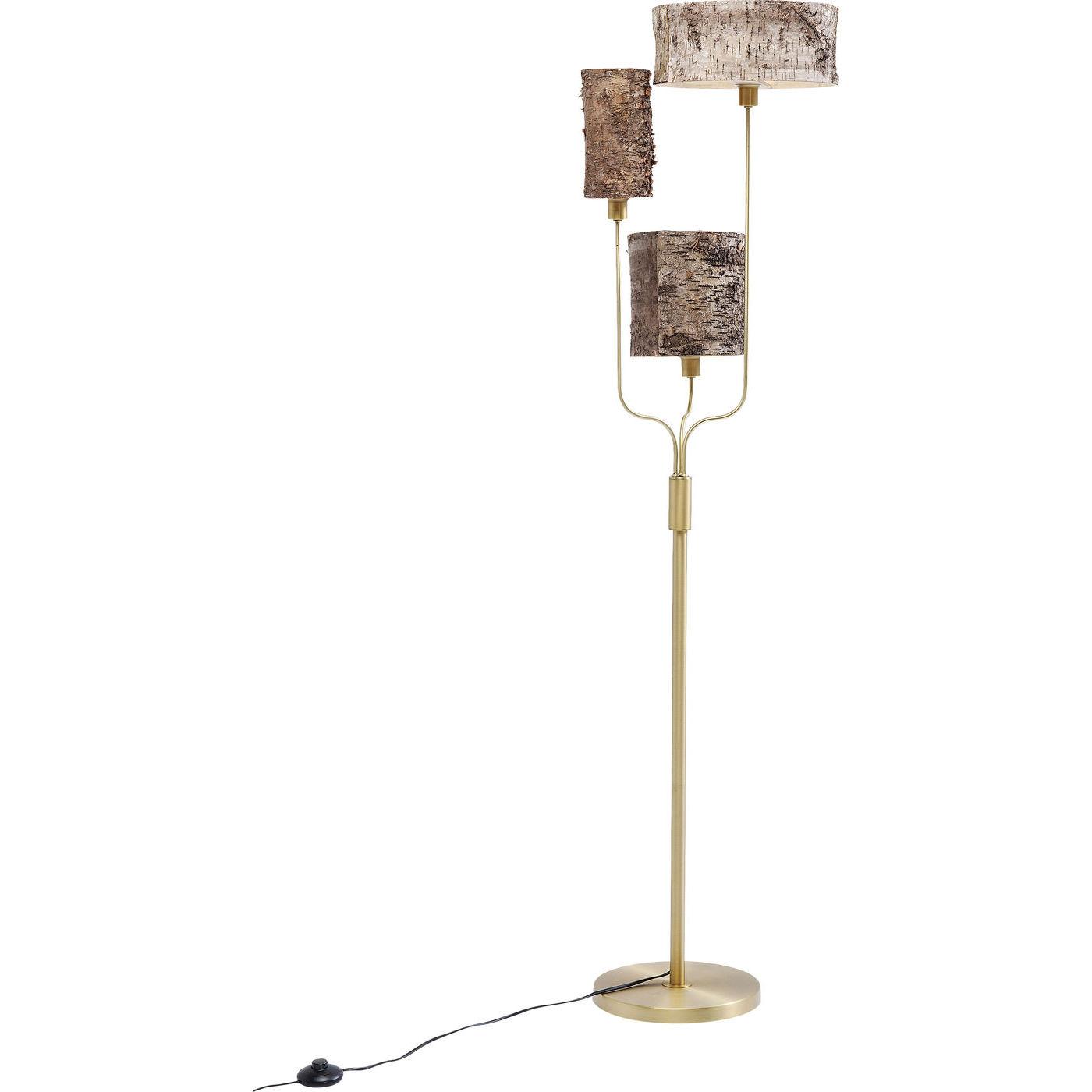 kare design – Kare design corteccia gulvlampe - natur birketræsfin?r/guld stål fra boboonline.dk