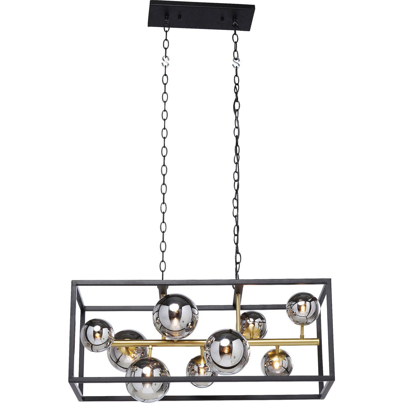 Kare design balloon cube loftlampe - sølvfarvet glas og stål fra kare design fra boboonline.dk