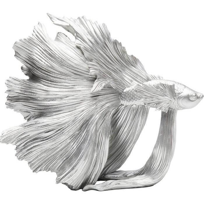 kare design Kare design betta sølvfisk - sølvfarvet polyserin fra boboonline.dk