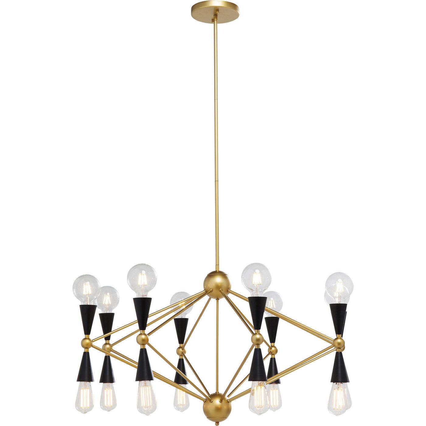 Kare design torch loftlampe - guld/sort stål, m. 16 lyspærer fra kare design fra boboonline.dk