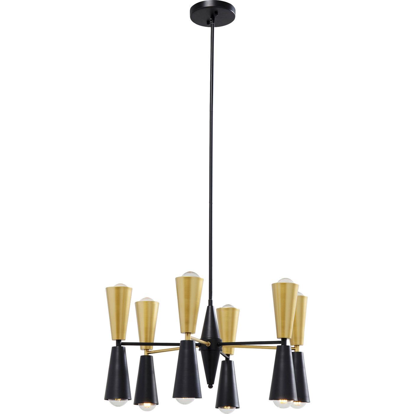 kare design Kare design torch 12 lights loftlampe - guld/sort stål på boboonline.dk