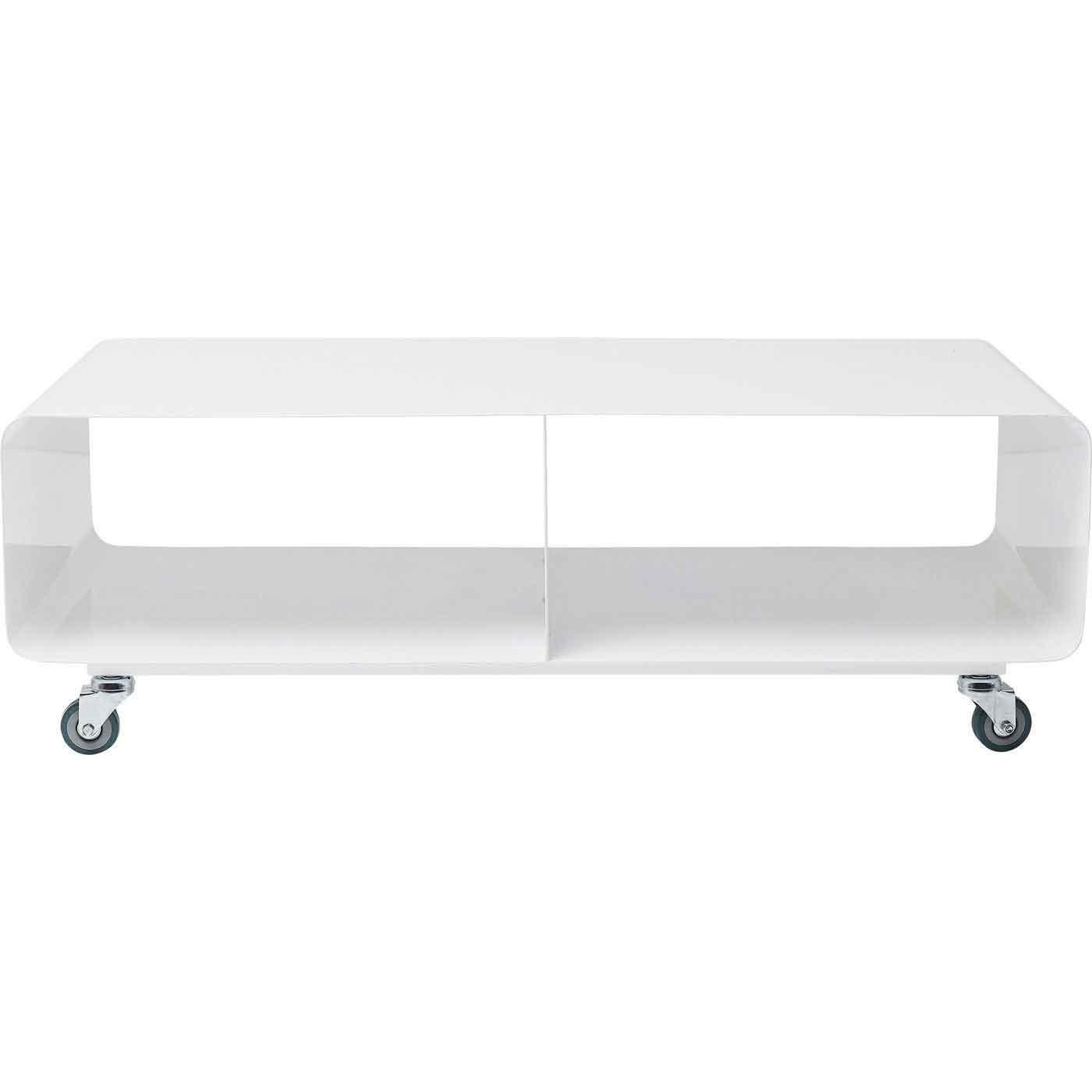Kare design lounge tv-bord - hvid stål, m. hjul fra kare design fra boboonline.dk