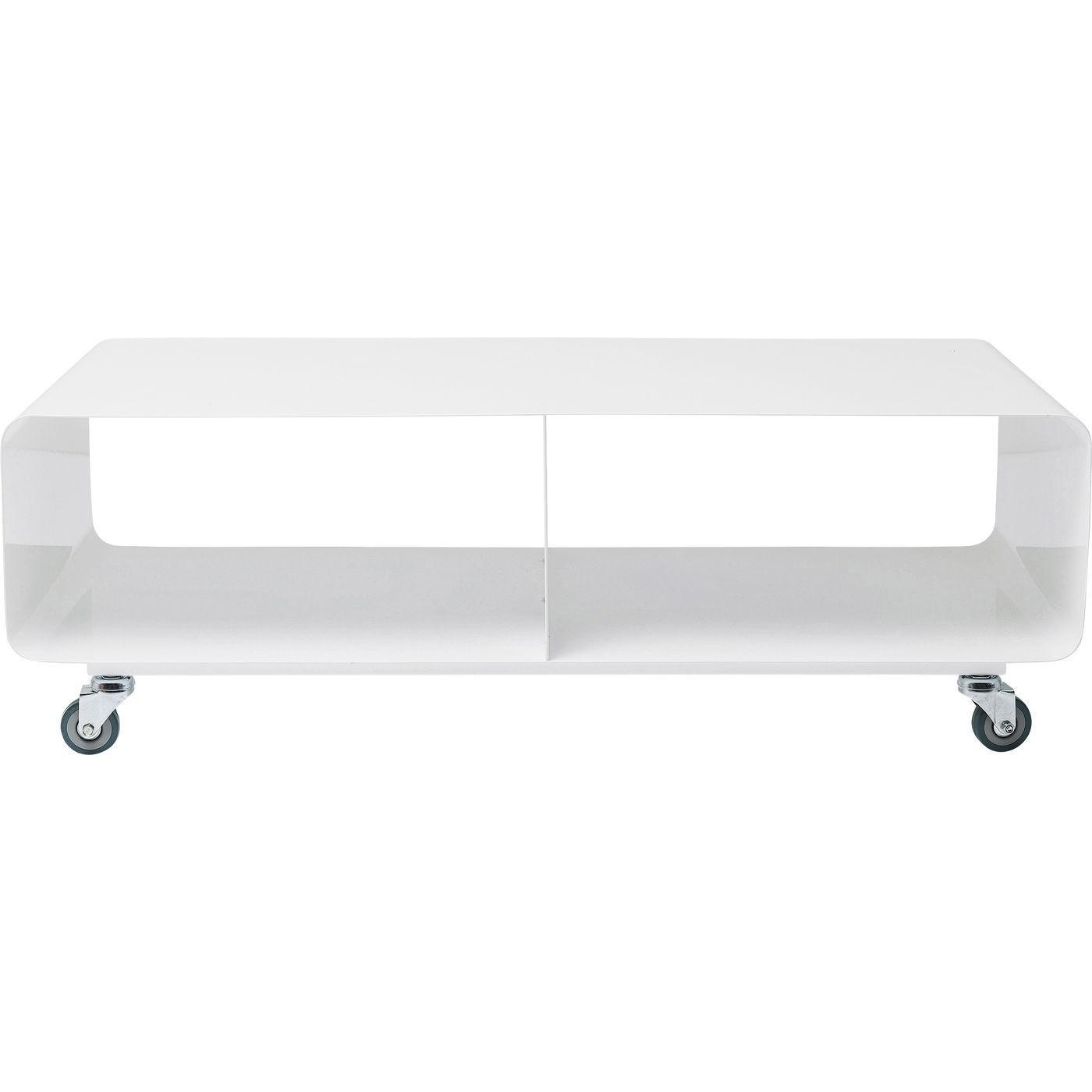 kare design – Kare design lounge tv-bord med hjul, lounge, hvid på boboonline.dk