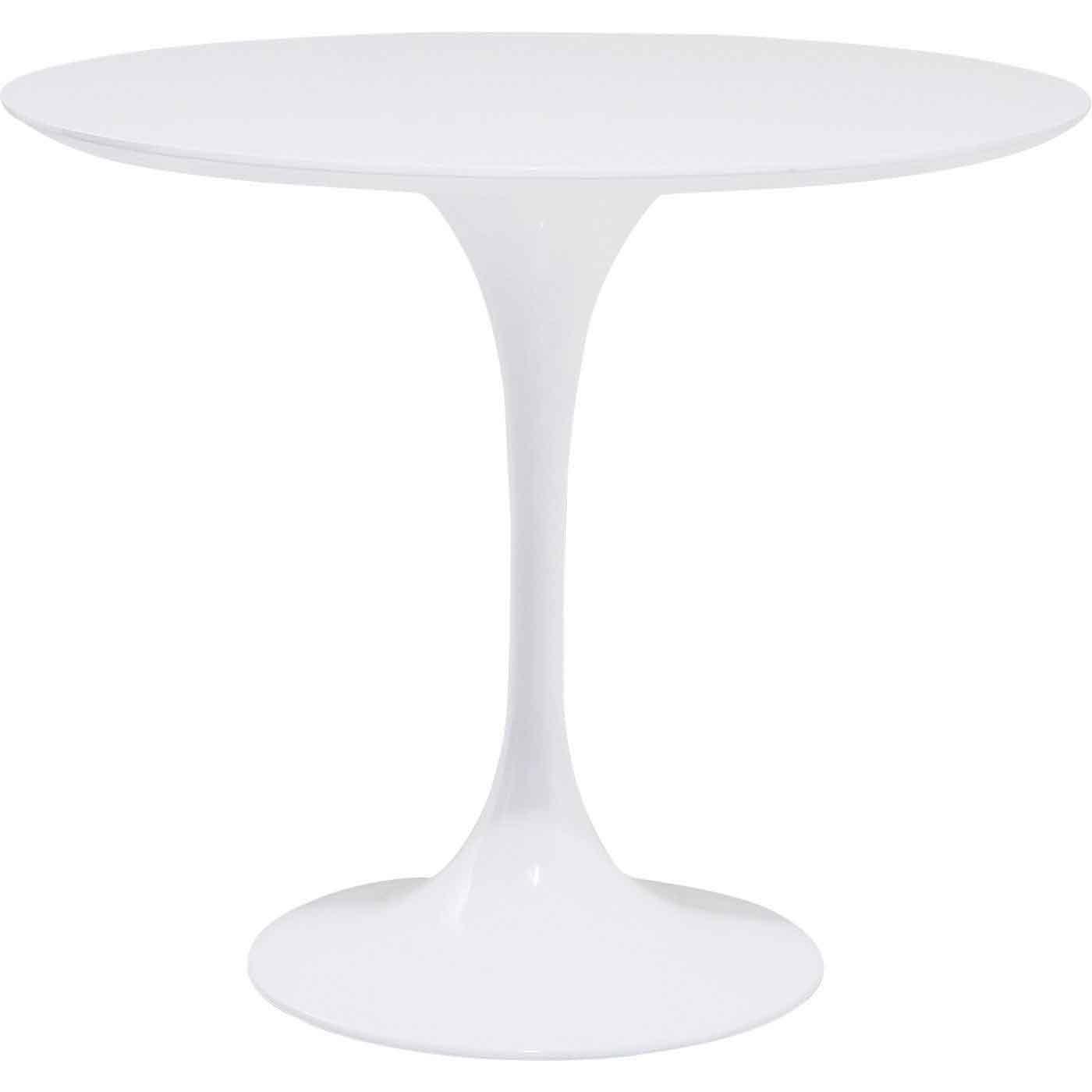 Kare design invitation hjørnebord - hvid mdf og glasfiber, rundt (ø:90) fra kare design på boboonline.dk