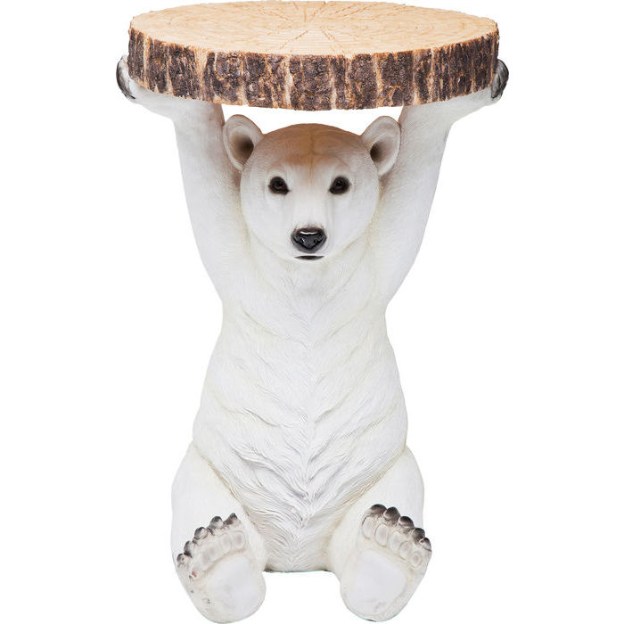 Image of   KARE DESIGN Sidebord, Animal Polar Bear Ø37cm