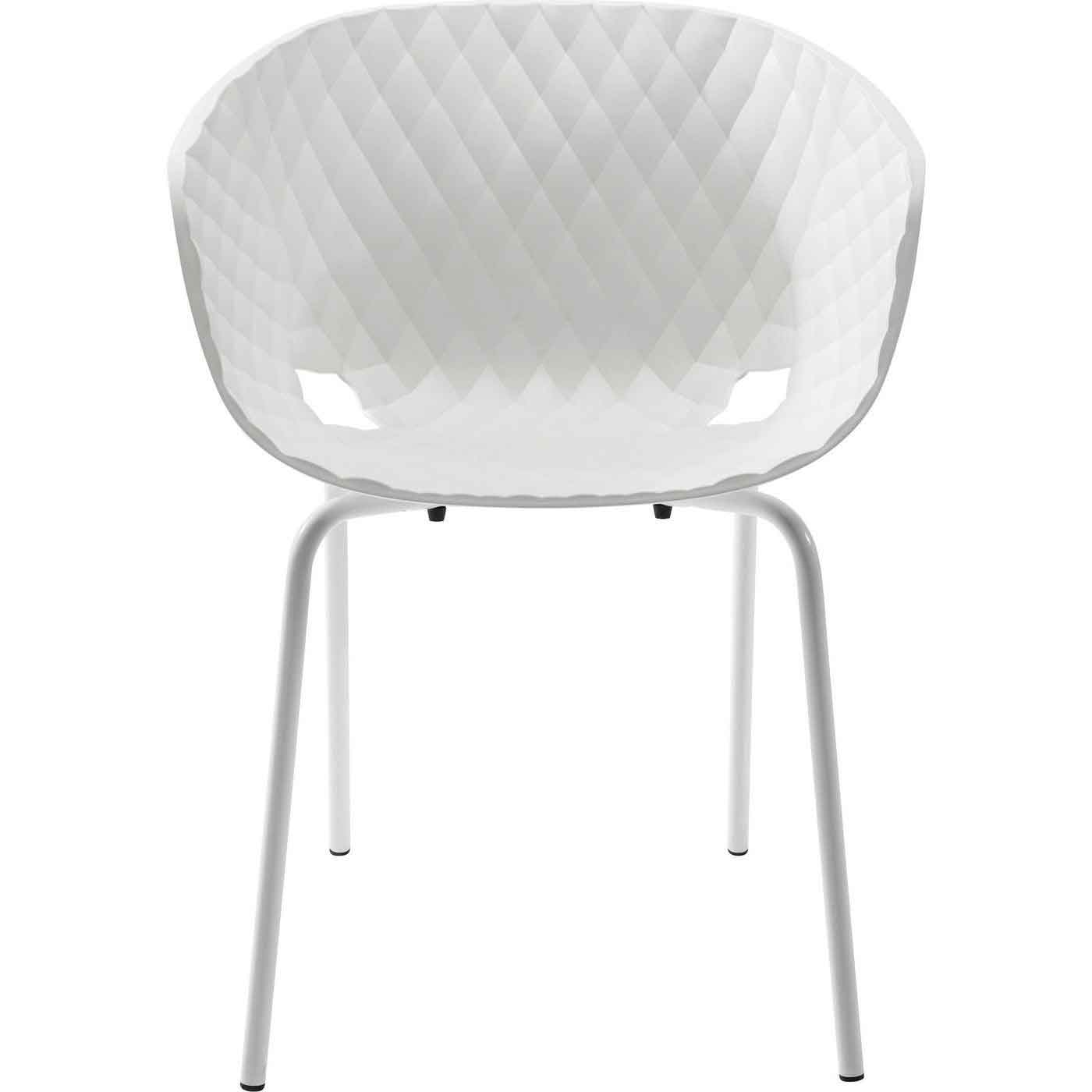 Kare design radar bubble spisebordsstol - hvid plast m. stål stel fra kare design på boboonline.dk