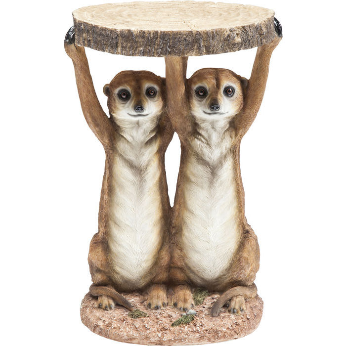 Image of   KARE DESIGN Sidebord, Animal Meerkat Sisters Ø33c