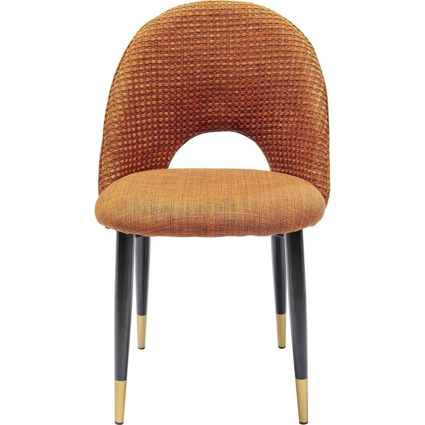 Kare Design Hudson Orange Spisebordsstol - Orange Polyester Og Stål