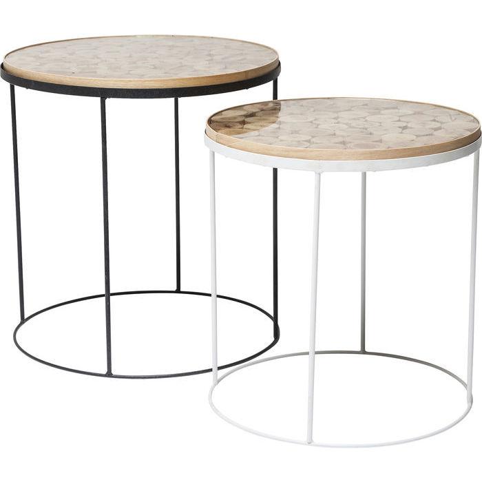 Image of   Kare Design Sidebord, Ciocco (2/Sæt)