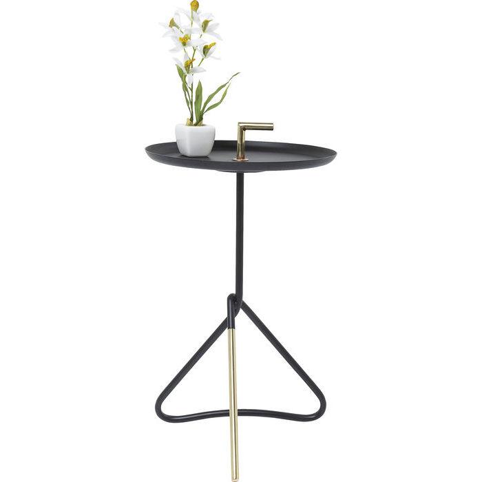 Billede af Kare Design Sidebord, Elegance Nodo Sort Ø30cm