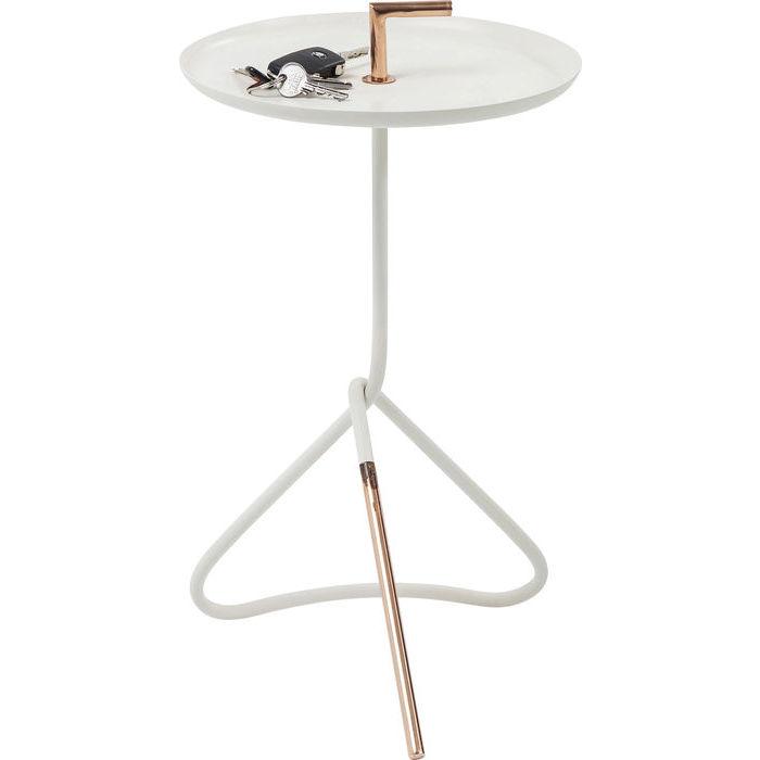 Billede af Kare Design Sidebord, Elegance Nodo Hvid Ø30cm