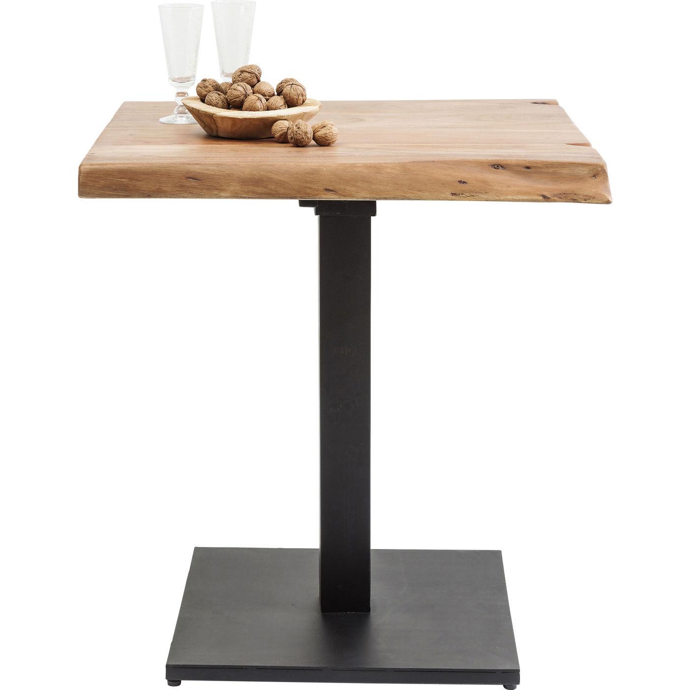 kare design Kare design black nature caf?bord - natur akacietræ/sort stål, unik (70x70) fra boboonline.dk