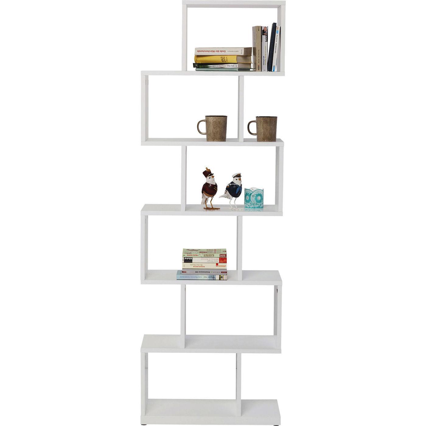 Image of   KARE DESIGN Brooklyn White Shelf Zick Zack reol - hvidt træ (150x60)