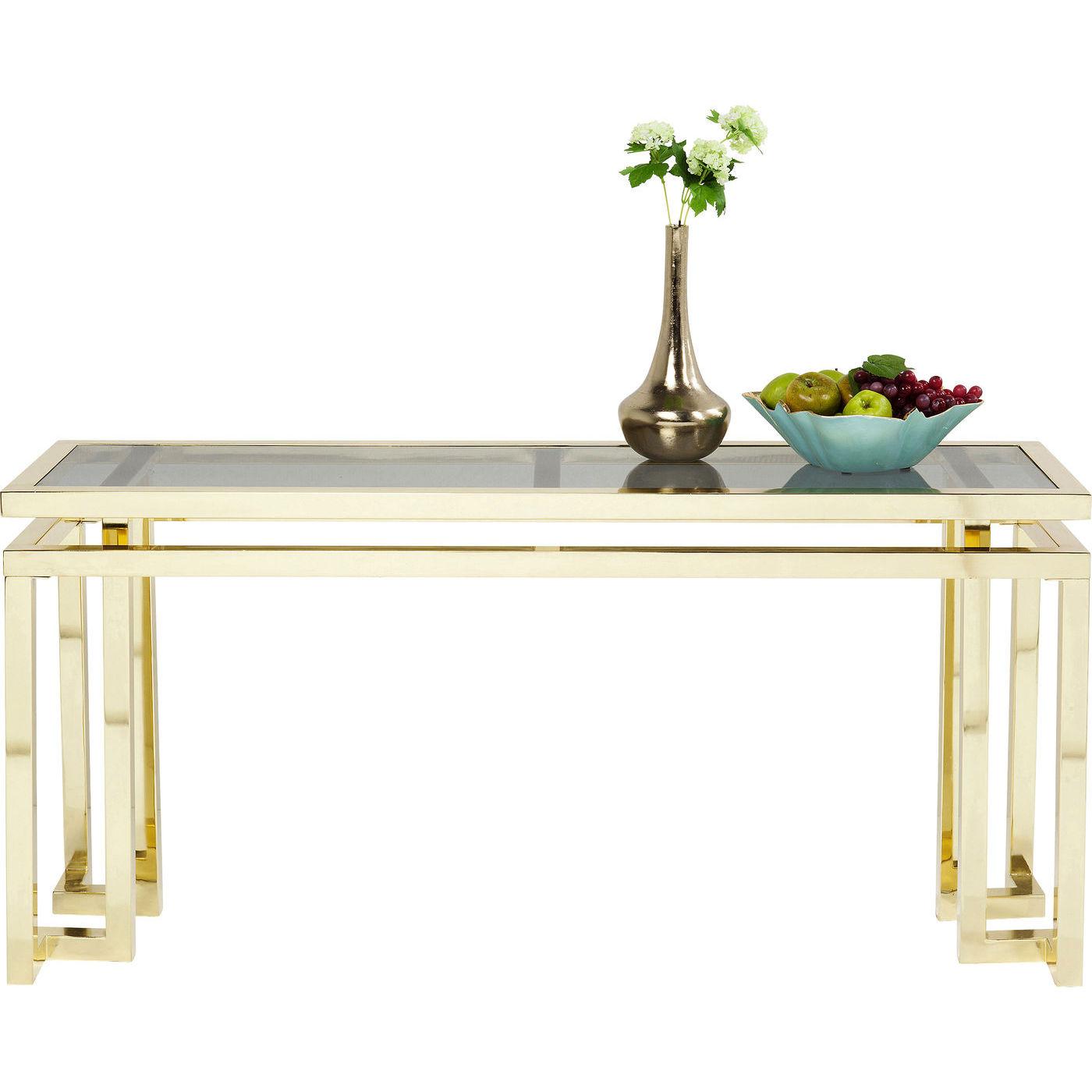 Image of   KARE DESIGN Gold Rush konsolbord - glas/guld stål