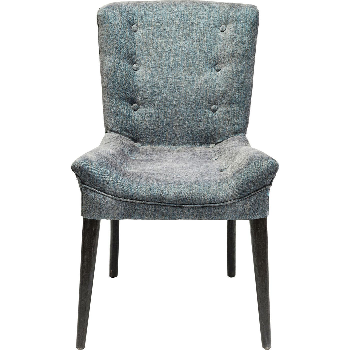 Kare design stay blue dark spisebordsstol - blå meleret polyester/brun eg fra kare design fra boboonline.dk