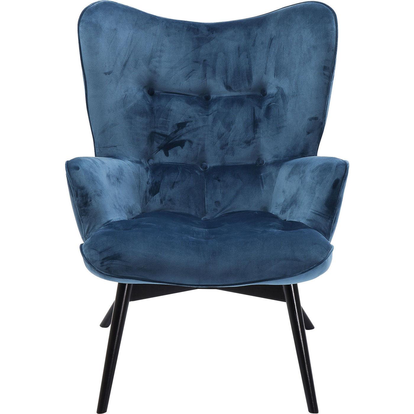 kare design Kare design black vicky velvet bluegreen lænestol - blåt/grønt stof og sort bøg, m. armlæn på boboonline.dk