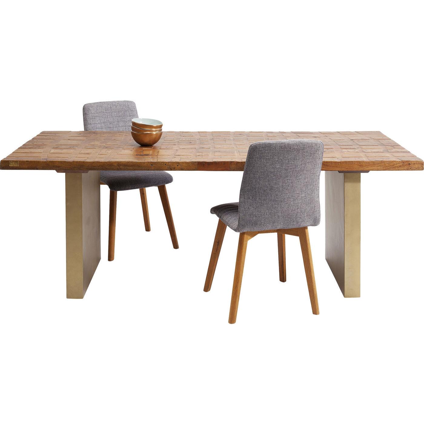 kare design – Kare design wild thing spisebord - natur genbrugstræ/messing stål (200x90) på boboonline.dk