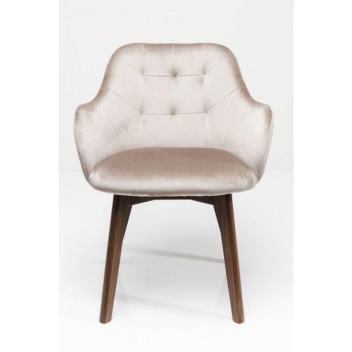 kare design – Kare design stol med armlæn lady velvet stitch - grå fra boboonline.dk