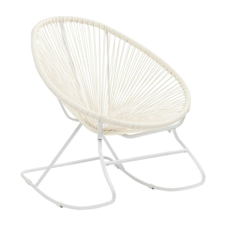 KARE DESIGN Spaghetti gyngestol - hvid plastik og stål
