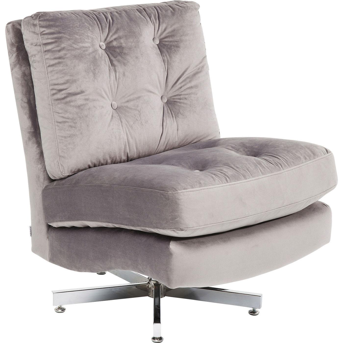 Kare design swivel chair cinema grey lænestol - gråt stof/sølv fra kare design på boboonline.dk