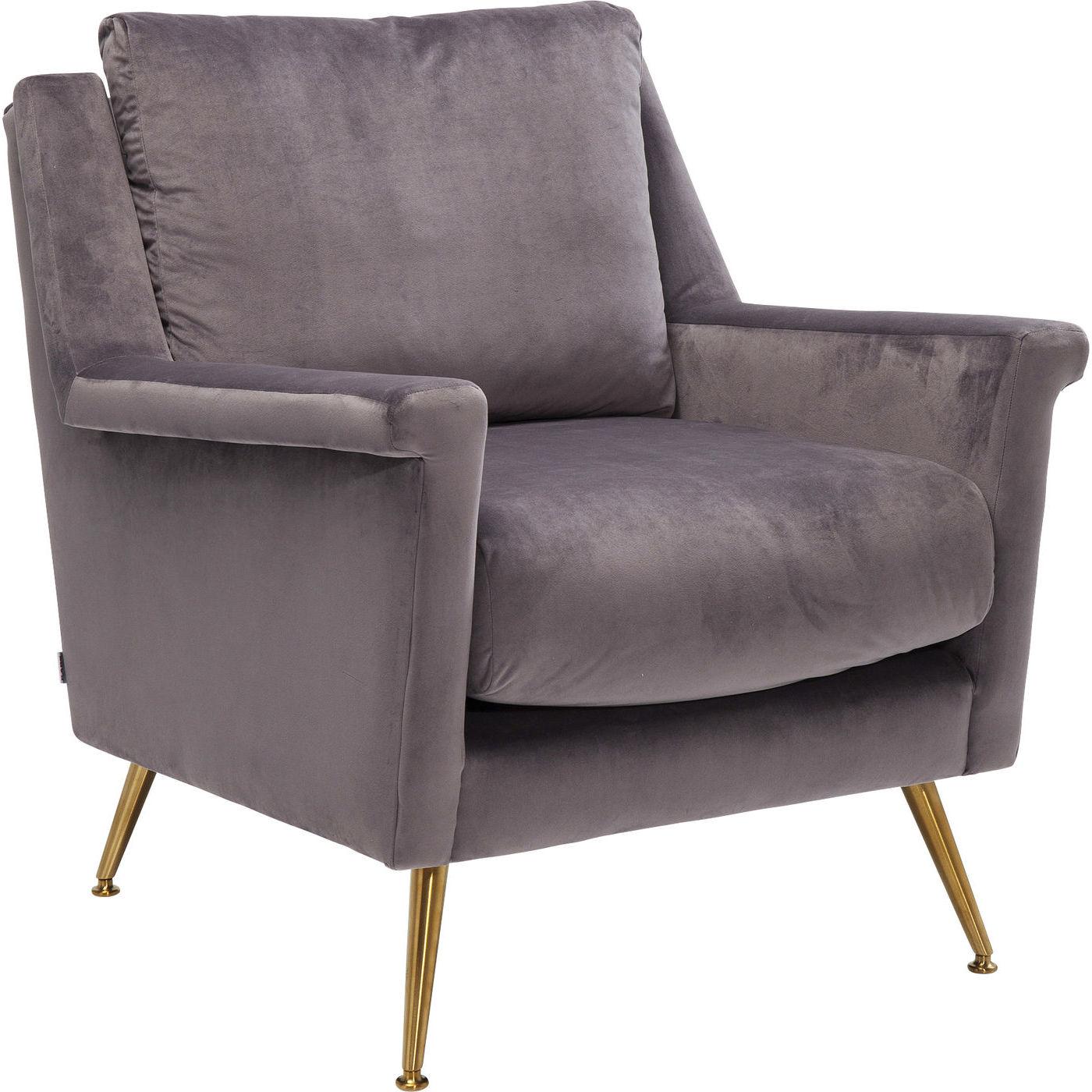 kare design – Kare design san diego grey lænestol - gråt stof/messing stål, m. armlæn fra boboonline.dk