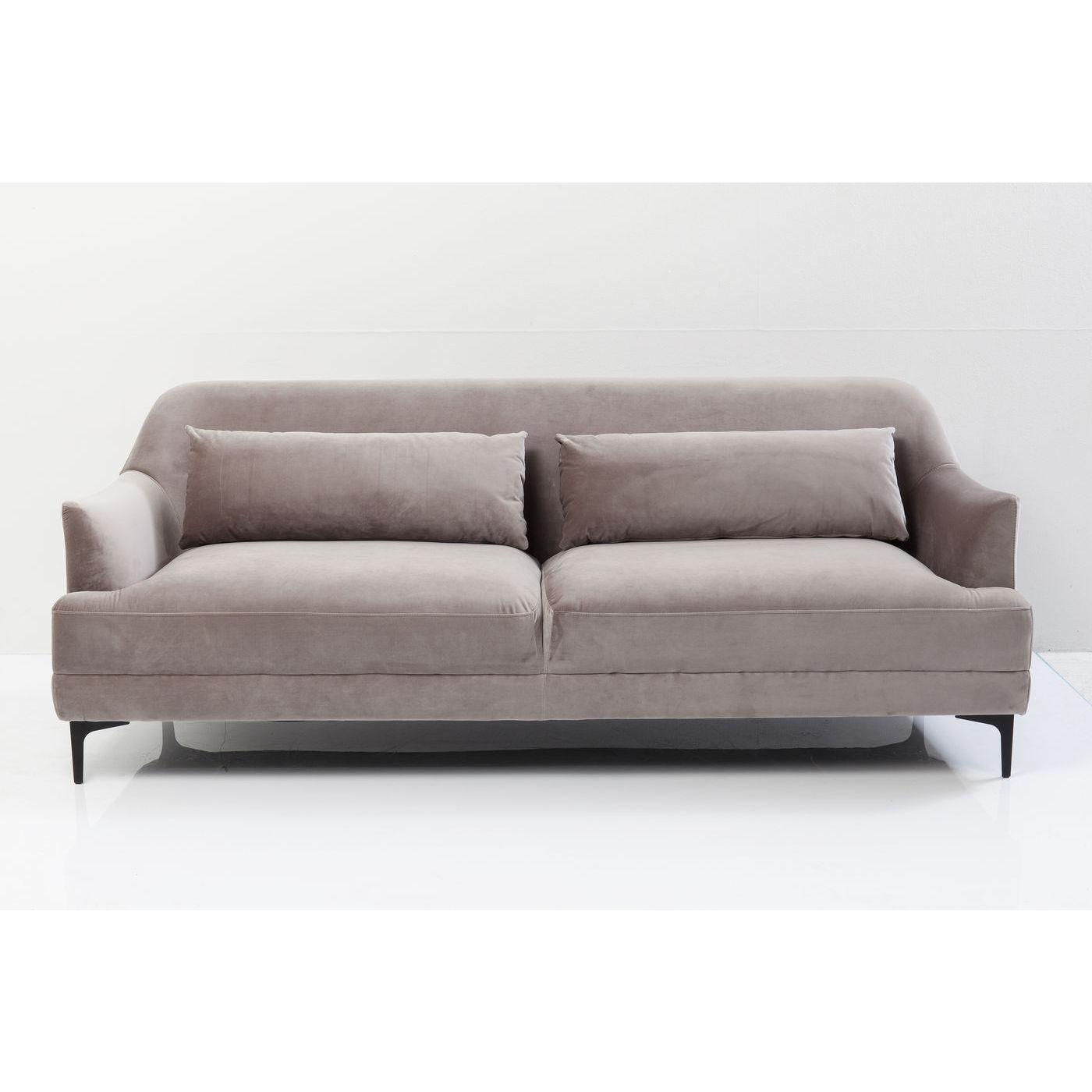 kare design – Kare design proud grey 3-personers sofa - gråt stof/stål fra boboonline.dk