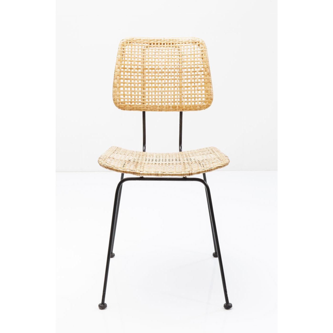 kare design – Kare design chiang mai spisebordsstol - natur rattan/sort stål fra boboonline.dk