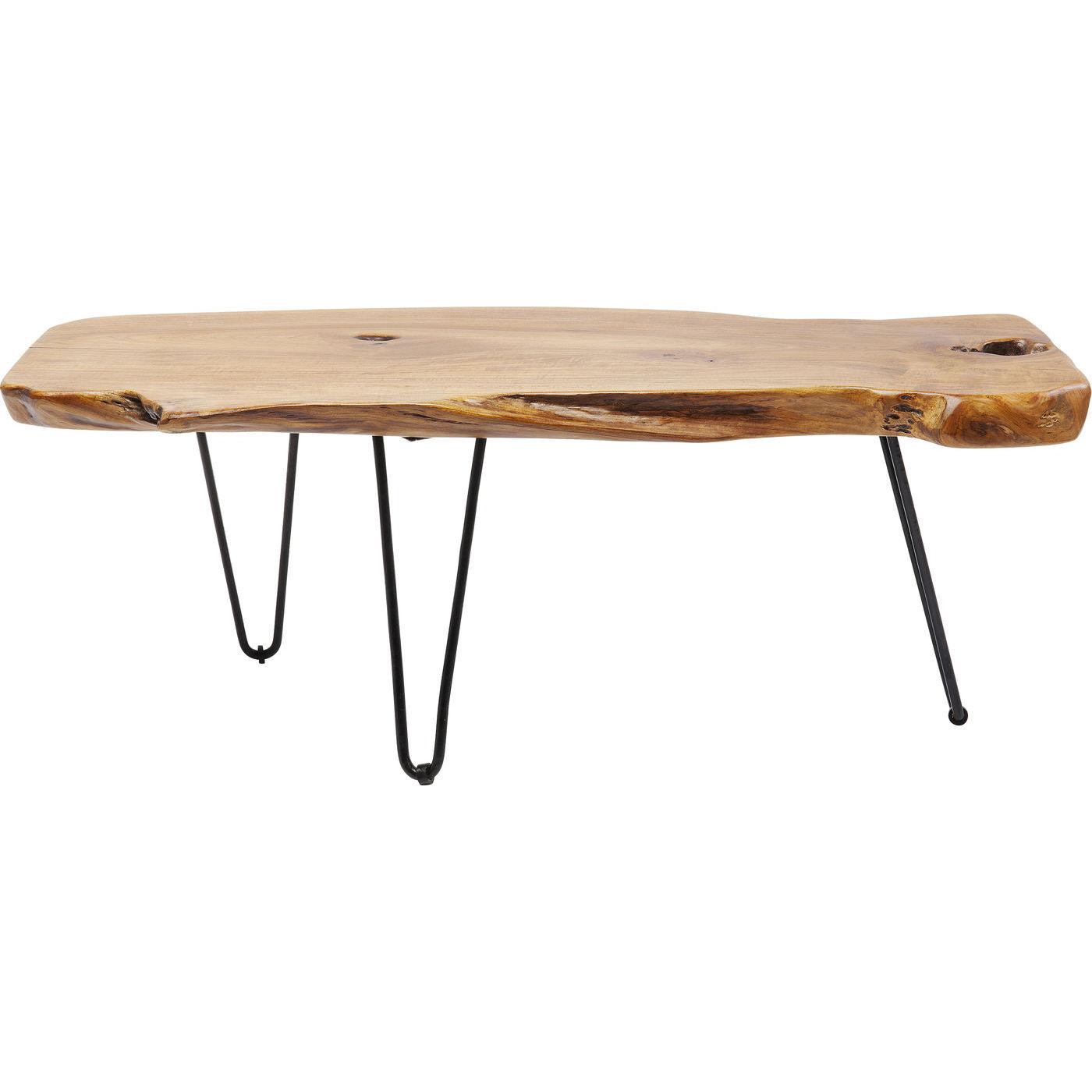 Kare design aspen sofabord - natur teaktræ/stål (106x41) fra kare design på boboonline.dk