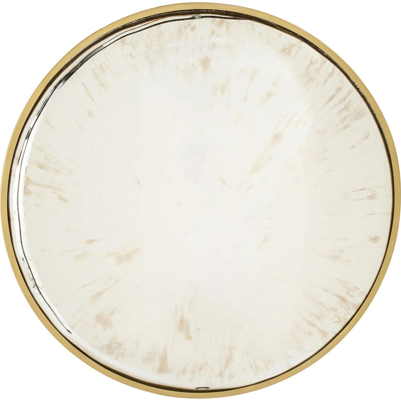kare design – Kare design concave vægspejl - spejlglas/guld stål, rundt (ø90) fra boboonline.dk