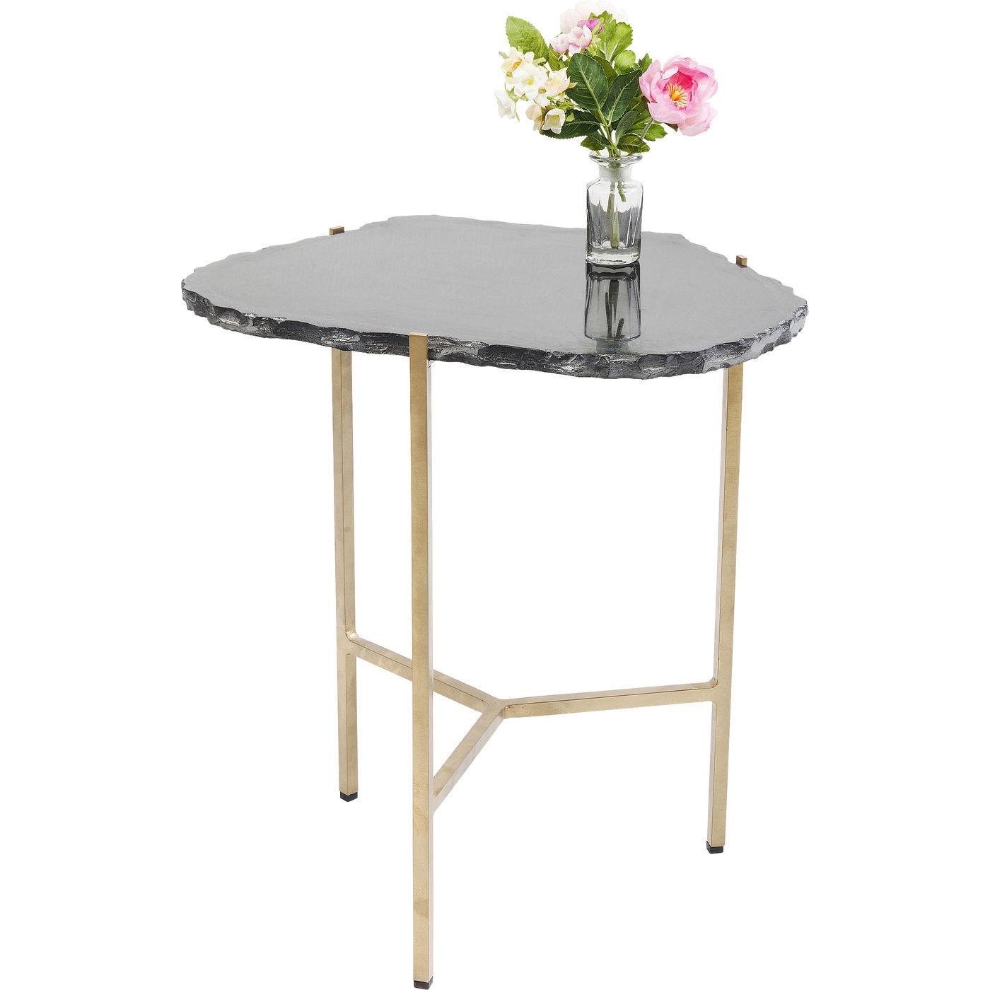 kare design – Kare design piedra black sidebord - sort granit/guld stål på boboonline.dk