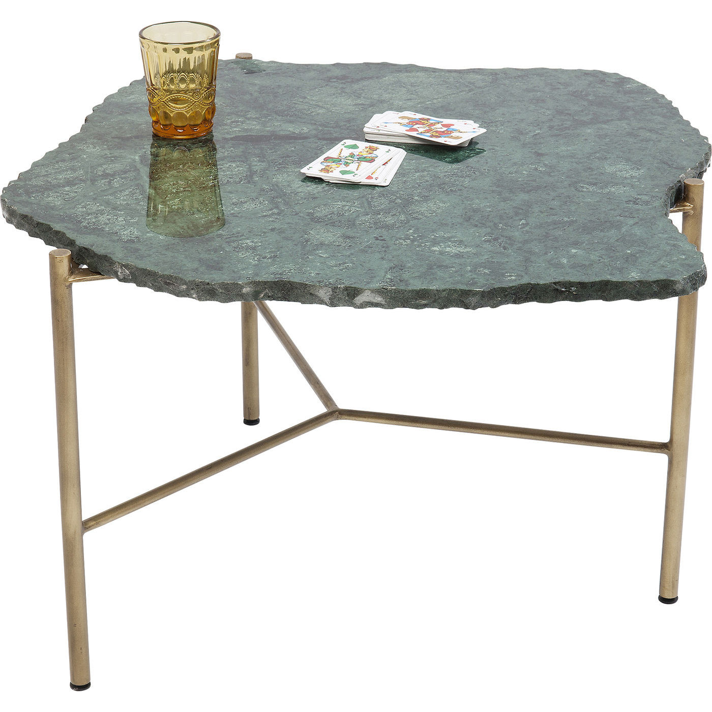 kare design – Kare design piedra green sofabord - grønt marmor/guld stål fra boboonline.dk